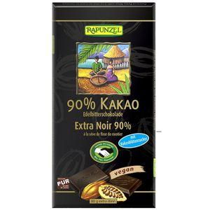 Ciocolata amaruie 90% cacao si zahar de cocos Rapunzel
