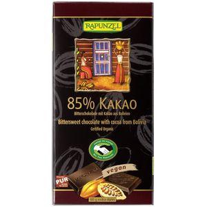 Ciocolata bio amăruie 85% cacao hih Rapunzel