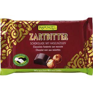 Ciocolata bio amăruie cristalino 60% cacao si alune întregi hih Rapunzel
