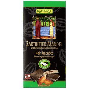 Ciocolata bio amăruie cu migdale si 55% cacao hih Rapunzel