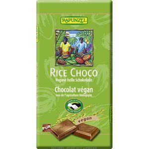 Ciocolata vegana cu lapte de orez bio Rapunzel