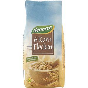 Fulgi bio din 6 cereale Dennree