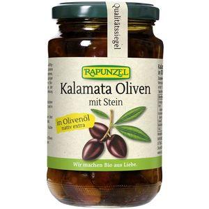 Masline bio kalamata violet cu sâmburi în ulei de măsline extravirgin Rapunzel