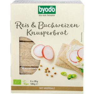 Paine crocanta cu orez si hrisca fara gluten Byodo