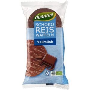 Vafe din orez expandat cu ciocolata Dennree