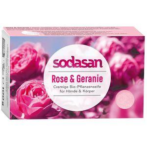 Sapun bio cu trandafir salbatic Sodasan