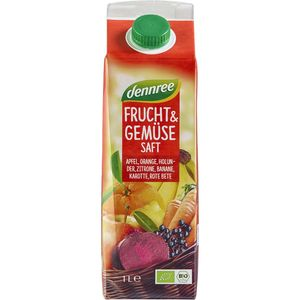 Suc rosu bio de fructe si legume Dennree