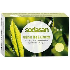 Sapun bio cu ceai verde si limette Sodasan