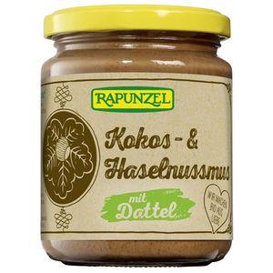 Crema de cocos, alune si curmale fara zahar Rapunzel