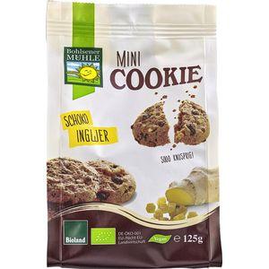 Mini biscuiti vegani bio cu ciocolata si ghimbir Bohlsener Muehle