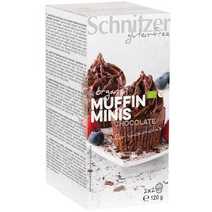 Mini muffins bio cu ciocolata fara gluten Schnitzer