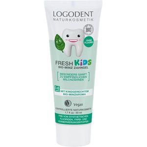 Pasta de dinti gel cu menta pentru copii Logodent