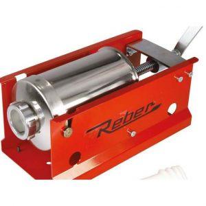 Maşină manuală de umplut cârnaţi Reber 8950 N, Capacitate 5kg, 2 viteze, Cilindru inox 304, 4 ștuțuri de umplere