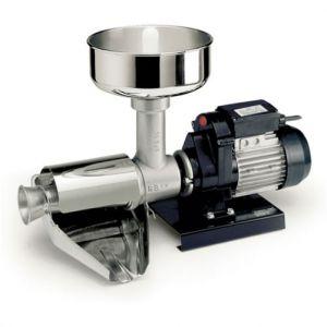 Mașină electrică de presat roşii Reber 9004 N n.5, Motor prin inducție de 500W, Funcționare continuă, Producție 150~340kg/h, Corp din fontă tratată cu vopsea de tip alimentar, Filtru, pâlnie, jgheab și apărătoare