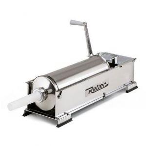 Maşină manuală de umplut cârnaţi Reber 8963 N, Capacitate 10kg, 2 viteze, Cilindru inox 304, 4 ștuțuri de umplere