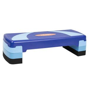Stepper aerobic 3 niveluri albastru