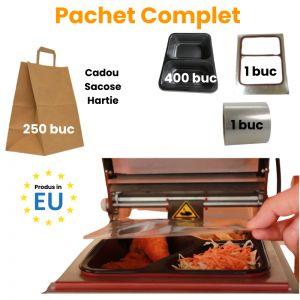 Pachet complet caserole cu 2 compartimente + Cadou Pungi Hartie