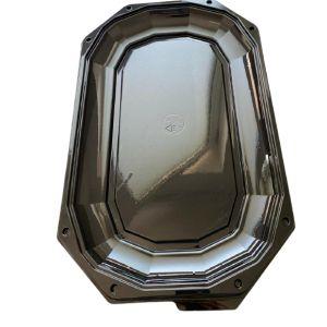 Platou servire negru cu capac inclus, PET, 43x38 cm - 100 bucati/set