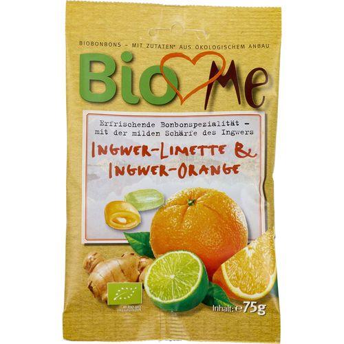 Bomboane bio cu ghimbir-lime si ghimbir-portocala BIO Loves Me
