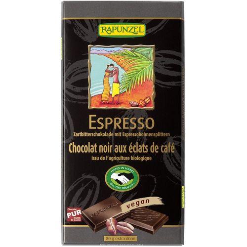 Ciocolata bio amăruie cu espresso si 55% cacao hih Rapunzel