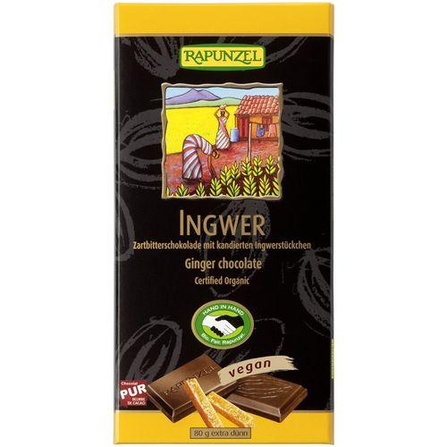 Ciocolata bio amăruie cu ghimbir 55% cacao hih Rapunzel