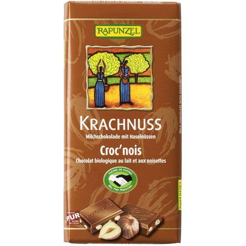 Ciocolata bio din lapte integral cu alune Rapunzel