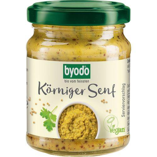 Mustar mediu cu boabe de mustar fara gluten Byodo