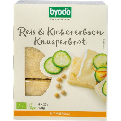 Paine bio crocanta cu orez si naut fara gluten Byodo