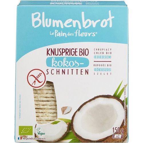 Paine crocanta bio cu cocos fara gluten Blumenbrot