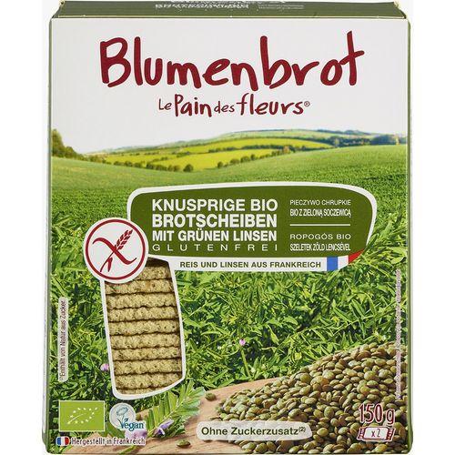 Paine crocanta  bio cu linte verde fara gluten Blumenbrot