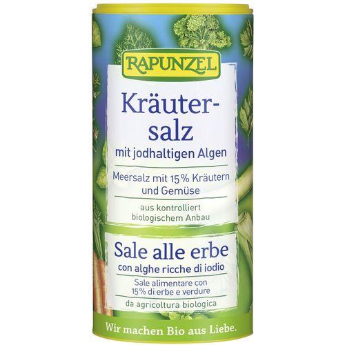 Sare iodată de condimentat cu 15% ierburi şi legume Rapunzel