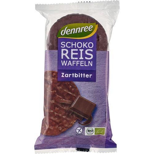 Vafe bio din orez expandat cu ciocolata bio Dennree