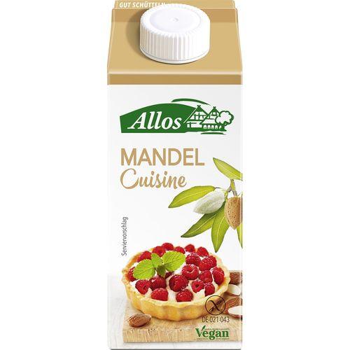 Crema de migdale lichida pentru gatit fara gluten Allos