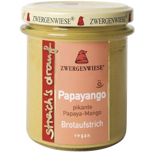 Crema tartinabila vegetala papayango cu papaya picanta si mango Zwergenwiese