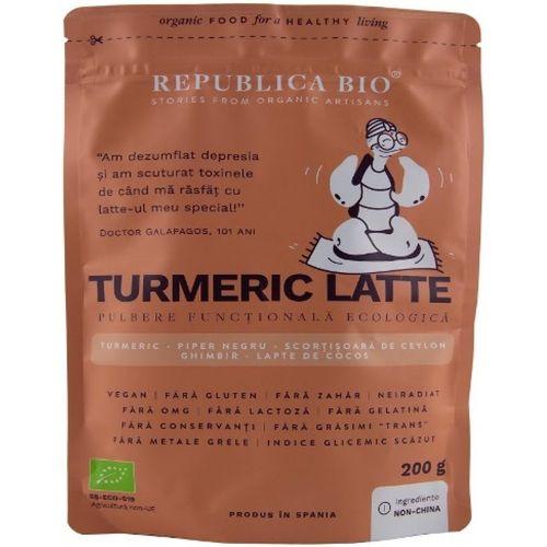 Turmeric latte, pulbere functionala ecologica Republica bio