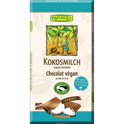 Ciocolata bio cu lapte de cocos vegana Rapunzel