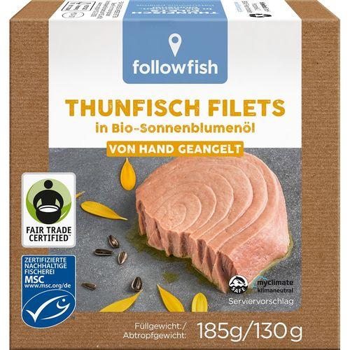 File de ton in ulei de floarea soarelui bio Followfish