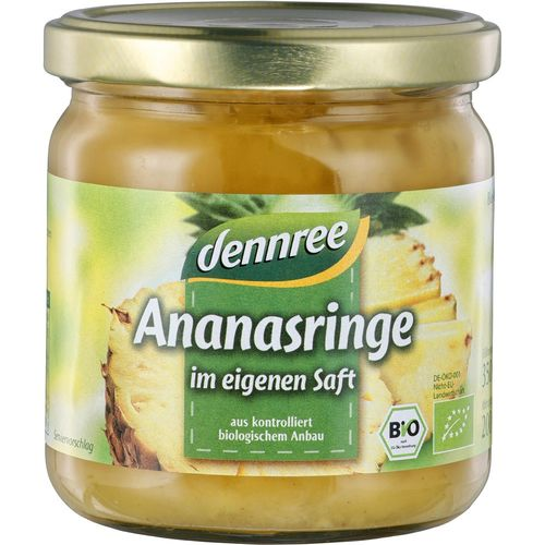 Inele de ananas in suc propriu Dennree