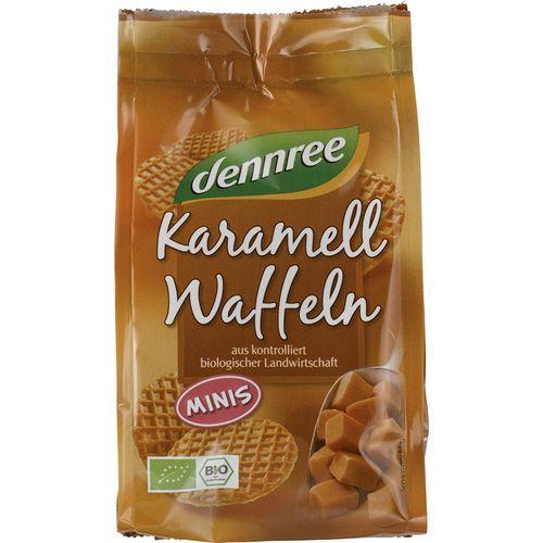 Mini vafe bio cu caramel Dennree