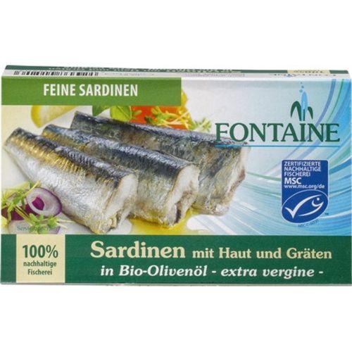 Sardine in ulei bio de masline Fontaine