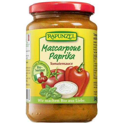 Sos de tomate mascarpone si ardei Rapunzel