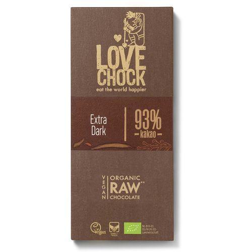 Ciocolata raw vegana bio 93% cacao eco Lovechock