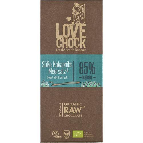 Ciocolata raw vegana cu sare de mare Lovechock