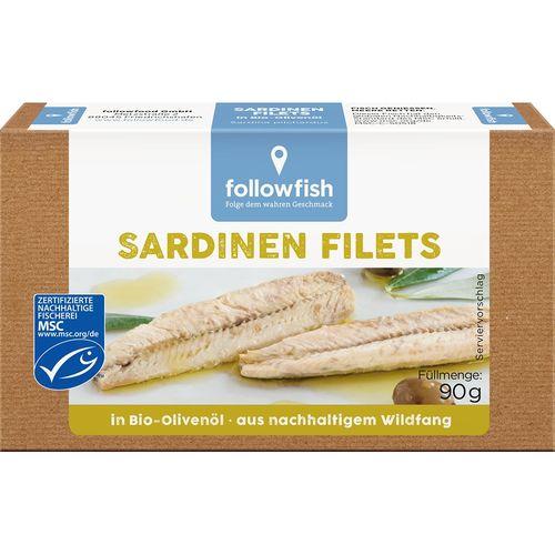 File de sardine in ulei de masline ecologic Followfish