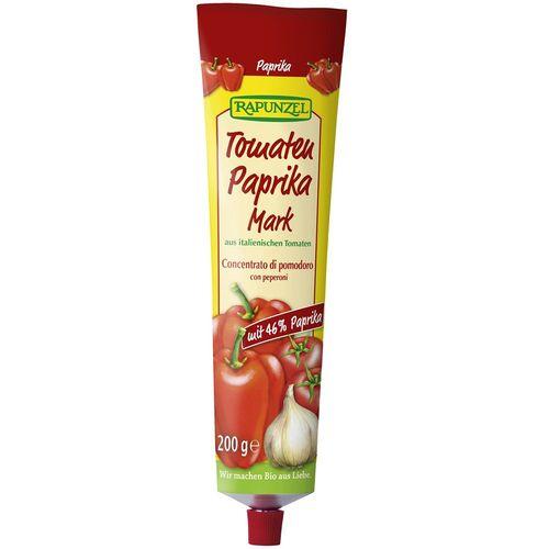 Pasta de tomate bio cu ardei, in tub Rapunzel