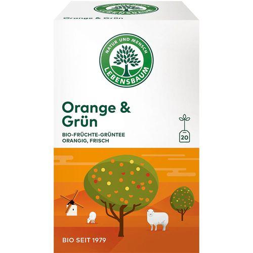 Ceai bio cu portocale si ceai verde Lebensbaum