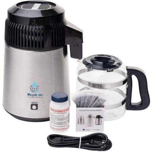Distilator de apă megahome 304 Capac Negru + Inox
