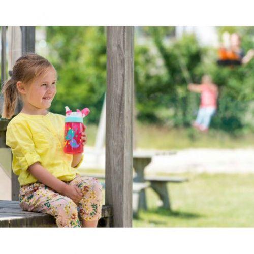 Sticla de apa pentru copii Contigo Gizmo Flip 420ml (Cherry Cat Pink)