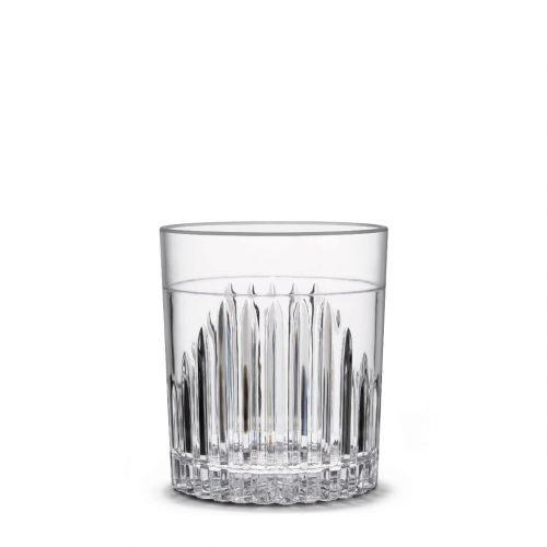 Pahar cocktail / whisky reutilizabil, incasabil, transparent, material San, 350 ml